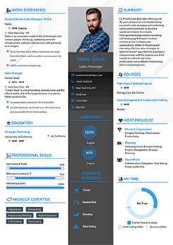 resume template one